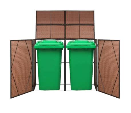 vidaXL Kahden roska-astian vaja polyrottinki 153x78x120cm ruskea[1/4]