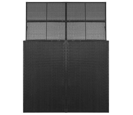 vidaXL Søppeldunkskur dobbel polyrotting 153x78x120 cm svart[2/4]