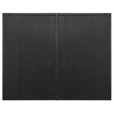 vidaXL Søppeldunkskur dobbel polyrotting 153x78x120 cm svart[3/4]