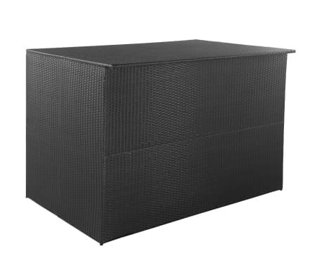 vidaXL Trädgårdslåda 150x100x100 konstrotting svart[1/7]