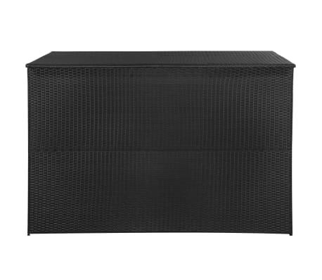 vidaXL Trädgårdslåda 150x100x100 konstrotting svart[3/7]
