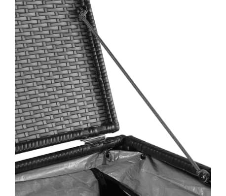 vidaXL Trädgårdslåda 150x100x100 konstrotting svart[6/7]