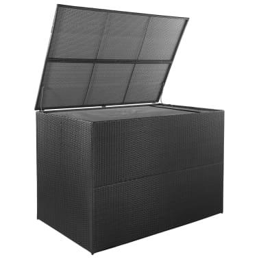 vidaXL Trädgårdslåda 150x100x100 konstrotting svart[2/7]