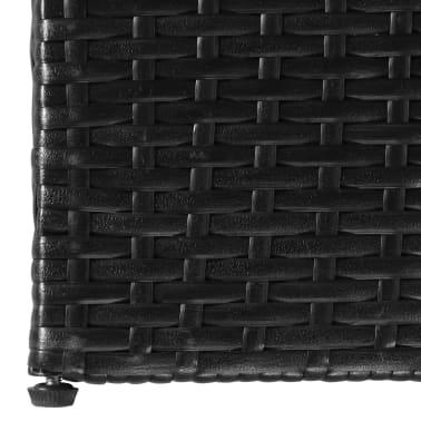 vidaXL Trädgårdslåda 150x100x100 konstrotting svart[4/7]