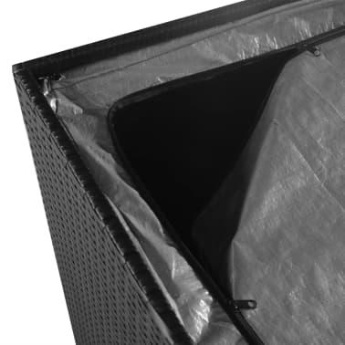 vidaXL Trädgårdslåda 150x100x100 konstrotting svart[5/7]