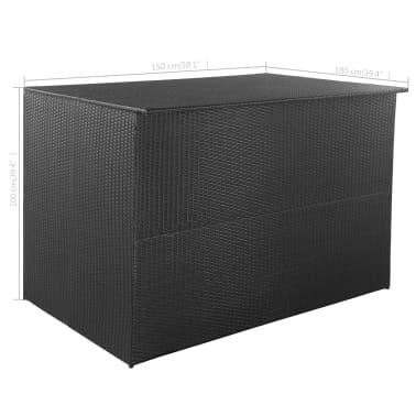 vidaXL Trädgårdslåda 150x100x100 konstrotting svart[7/7]