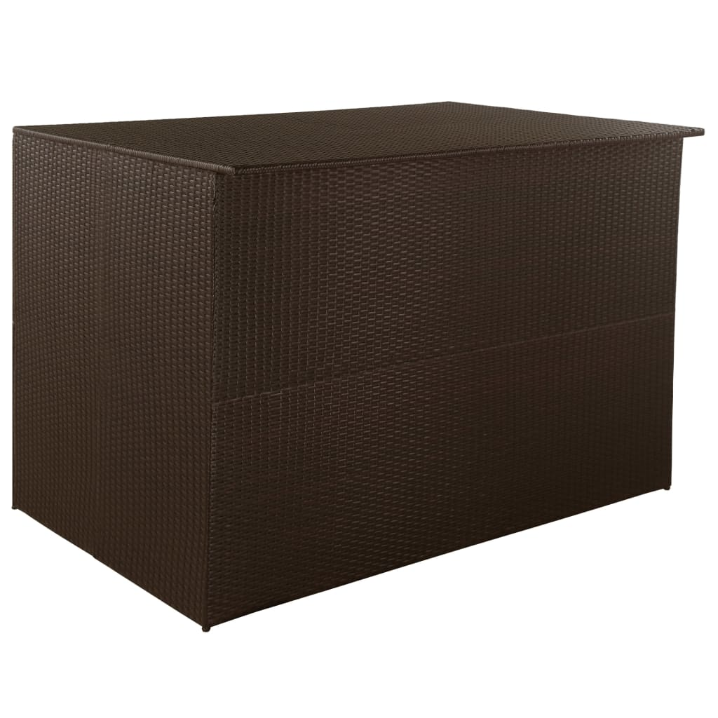 Zahradní úložný box hnědý 150 x 100 x 100 cm polyratan