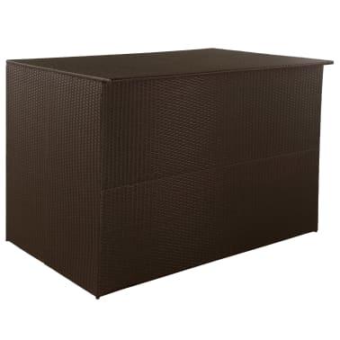 vidaXL Záhradný úložný box hnedý 150x100x100 cm polyratanový[1/7]