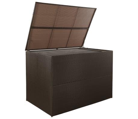 vidaXL Záhradný úložný box hnedý 150x100x100 cm polyratanový[2/7]