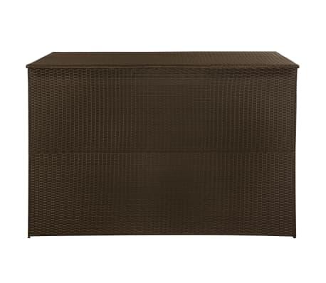 vidaXL Záhradný úložný box hnedý 150x100x100 cm polyratanový[3/7]
