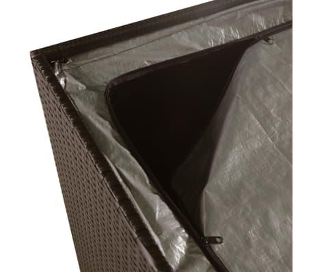 vidaXL Zahradní úložný box hnědý 150 x 100 x 100 cm polyratan[5/7]