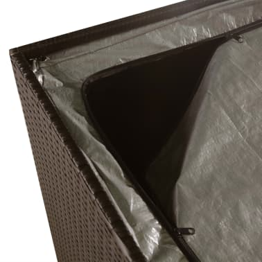 vidaXL Záhradný úložný box hnedý 150x100x100 cm polyratanový[5/7]