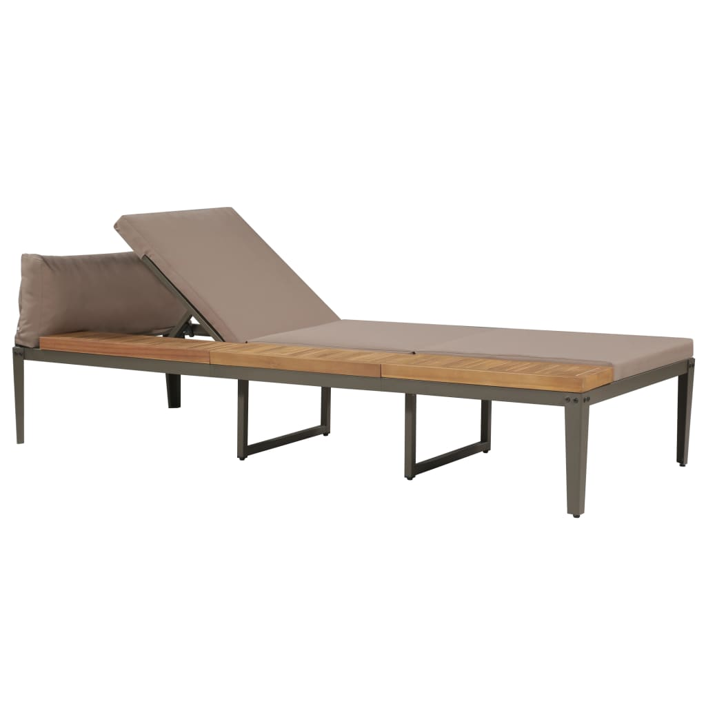 Acacia Chaise Longue Vidaxl Patio Terrasse 2x Jardin De Massif Bois Transat rxWoBedC