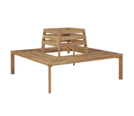 vidaXL Tree Bench 140x140x86 cm Solid Acacia Wood