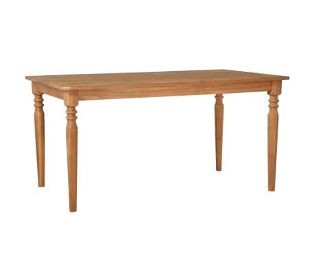 vidaXL Mesa de jardín de madera maciza de acacia 150x90x75 cm