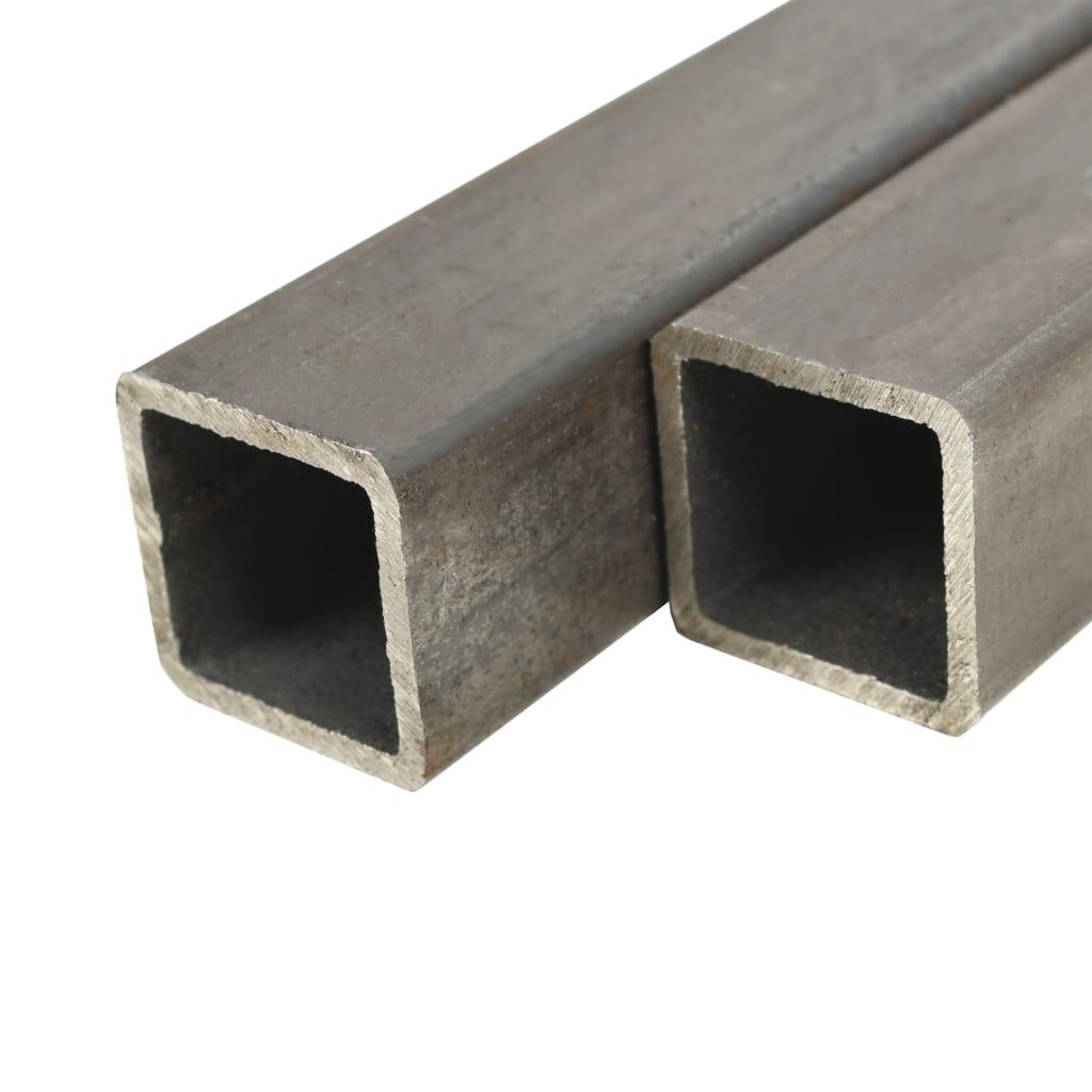 vidaXL Trubky z konstrukční oceli 6 ks čtvercový průřez 1 m 25x25x2 mm
