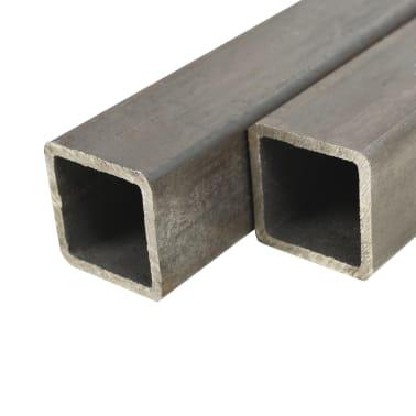 vidaXL Tuburi din oțel structural 6 buc., 25 x 25 x 2 mm, pătrat, 1 m[1/2]