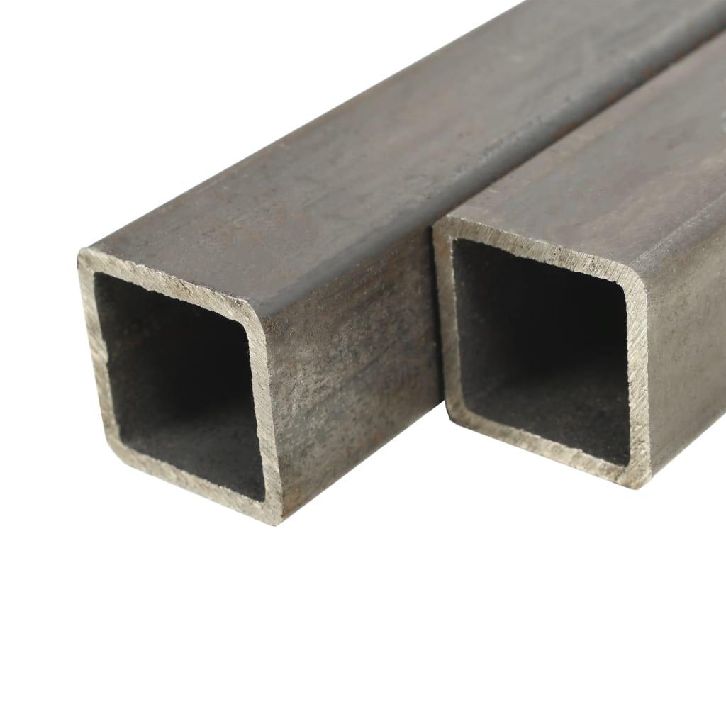vidaXL Trubky z konstrukční oceli 4 ks čtvercový průřez 1 m 40x40x2 mm