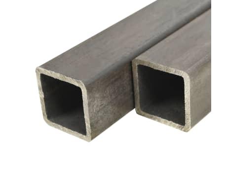 vidaXL Tuburi din oțel structural 4 buc, 40 x 40 x 2 mm, pătrat, 2 m[1/2]
