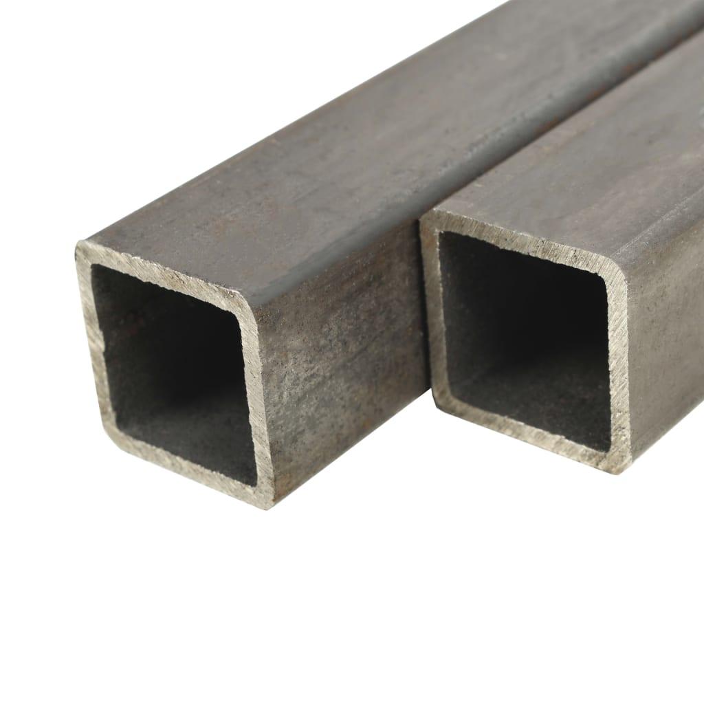 vidaXL Fyrkantsrör konstruktionsstål 2 st 1m 50mm