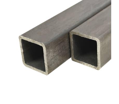 vidaXL Tuburi din oțel structural 2 buc., 50 x 50 x 2 mm, pătrat, 1 m