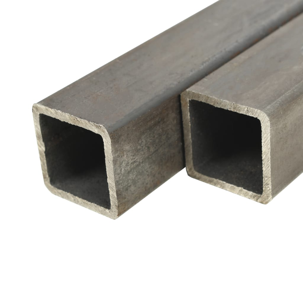 vidaXL Trubky z konstrukční oceli 2 ks čtvercový průřez 2 m 80x80x2 mm