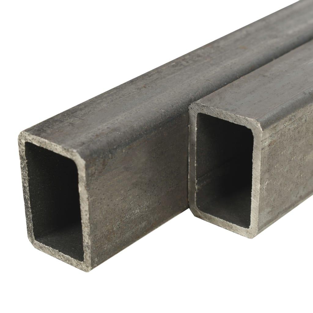vidaXL Trubky z konstrukční oceli 2 ks průřez obdélník 1 m 60x30x2 mm