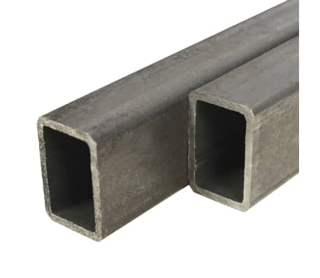 vidaXL Tuburi din oțel structural 2 buc, dreptunghiular 1m, 60x30x2 mm