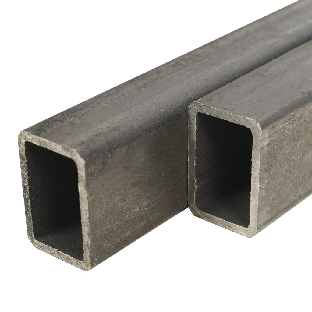 vidaXL Trubky z konstrukční oceli 2 ks průřez obdélník 1 m 60x40x3 mm