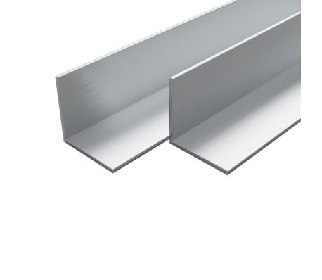 vidaXL Bare unghiulare aluminiu, profil L, 4 buc, 15 x 15 x 2 mm, 1 m[1/2]