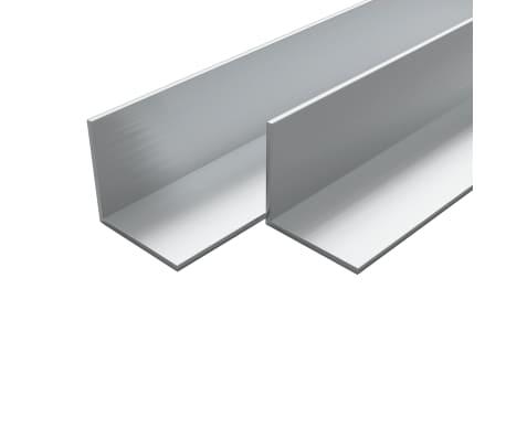 vidaXL Bare unghiulare aluminiu, profil L, 4 buc, 40 x 40 x 2 mm, 1 m
