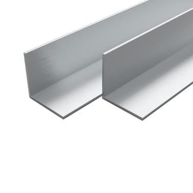 vidaXL Bare unghiulare aluminiu, profil L, 4 buc, 50 x 50 x 2 mm, 1 m[1/2]