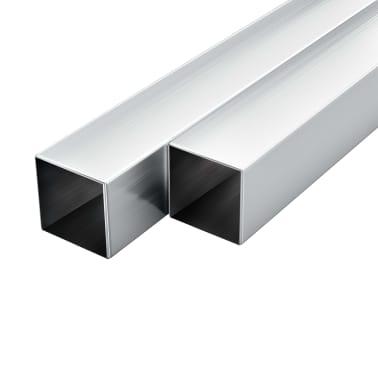 vidaXL Tuburi din aluminiu, secțiune pătrată, 6 buc, 25x25x2 mm, 2 m[1/2]