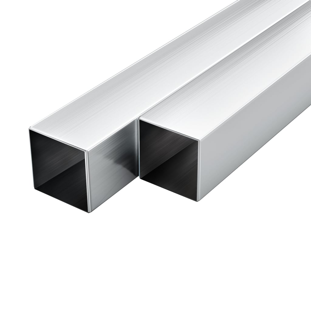 vidaXL Hliníkové trubky 6 ks čtvercový průřez 2 m 30 x 30 x 2 mm