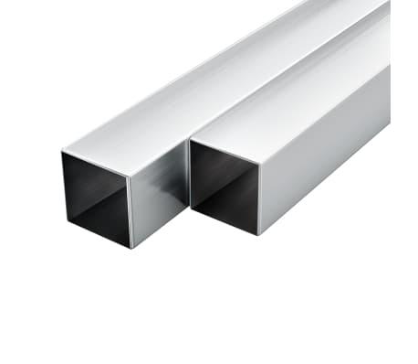 vidaXL Tuburi din aluminiu, secțiune pătrată, 6 buc, 30x30x2 mm, 2 m[1/2]