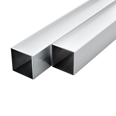 vidaXL Tube avec section carrée Aluminium 6 pcs 2 m 30x30x2 mm[1/2]