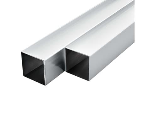 vidaXL Tubos de aluminio cuadrados 6 unidades 2 m 40x40x2mm[1/2]