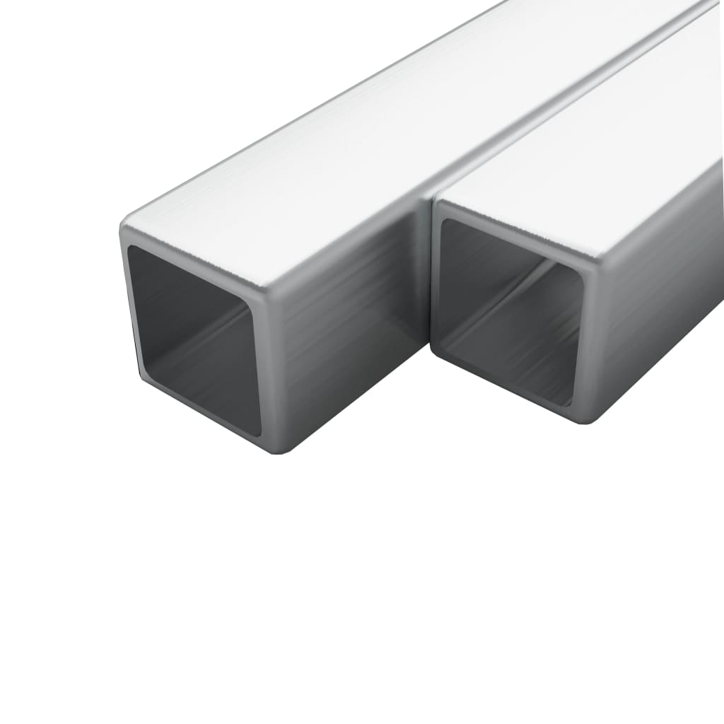 Trubky z nerezové oceli 2 ks průřez čtverec V2A 2m 15x15x1,5 mm