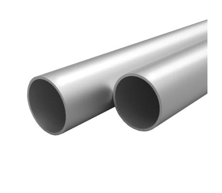 vidaXL Tubos de aluminio redondos 4 unidades 2 m  Ø20x2mm
