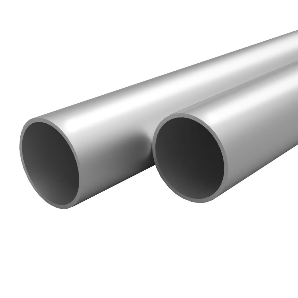 Afbeelding van vidaXL Buizen rond 2m 30mm aluminium 4 st