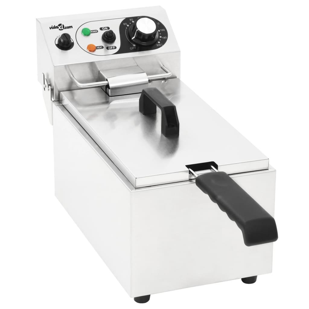 vidaXL Elektrická fritéza nerezová ocel 6 l 2 000 W