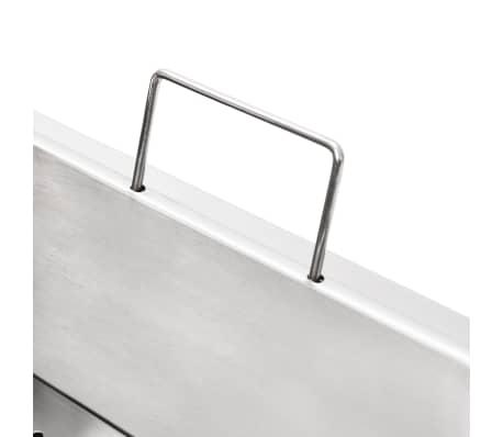 vidaXL Elektrisk frityrkoker rustfritt stål 6 L 2000 W[11/12]