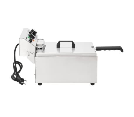 vidaXL Elektrisk fritös rostfritt stål 10 L 3000 W[11/16]