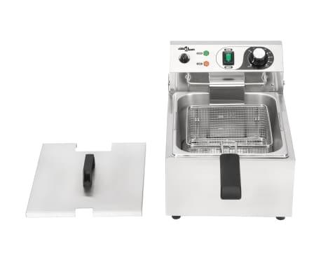vidaXL Elektrisk fritös rostfritt stål 10 L 3000 W[3/16]