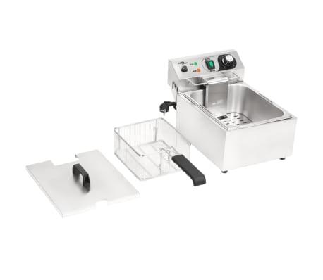 vidaXL Elektrisk fritös rostfritt stål 10 L 3000 W[9/16]