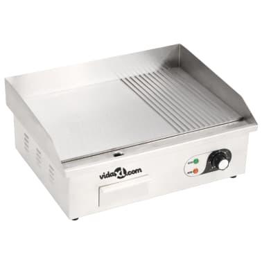 vidaXL Elektrinė keptuvė, nerūdijantis plienas, 3000W, 54x41x24cm[3/10]