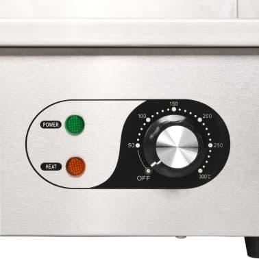 vidaXL Elektrinė keptuvė, nerūdijantis plienas, 3000W, 54x41x24cm[9/10]