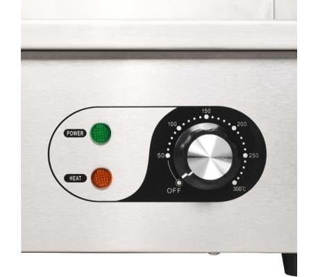 vidaXL Elektrinė keptuvė, nerūdijantis plienas, 4400W, 73x51x23cm[7/9]