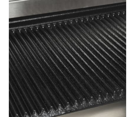 vidaXL Riflet paninigrill rustfritt stål 1800 W 32x41x19 cm[11/13]