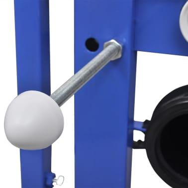 vidaXL Vägghängd toalett med cistern mjuk stängning keramik svart[13/17]